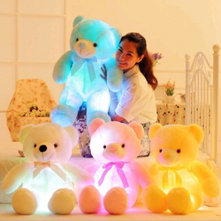Luminous Teddy Bear Super soft and huggable and lights up beautifully made toy LED lights magical glow toy teddy's teddies soft love lighting light kids kid hug glowing glow girls girl gift fun cuddle cosy childs childrens Children child boys boy bedtime bears bear baby babies