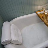 Luxury Bath & Neck Pillow Relax and unwind with this luxury bath neck head pillow womans with water resistant unwind support suction Spa rest RELAXING relax pillows Pillow neck support neck mesh man Luxury house Home head gift cups cup comfortable comfort candles bubbles baths bathrooms bathroom accessories bathing bath cushion aromatherapy aid