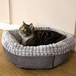 Luxury Tweed Fax Fur Pet Bed