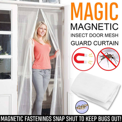 Magic Magnetic Mesh Insect Curtain Enjoy fresh air unwanted pests Quick and easy to assemble, attach to your doorway – no tools required travel summer screens Screen repellent pet outside netting net's Net mosquitoes Mosquito mesh Magnets magnetic Magic insects insect garden frontdoor fresh air flys fly flies Fastening door curtains Curtain bugs bug