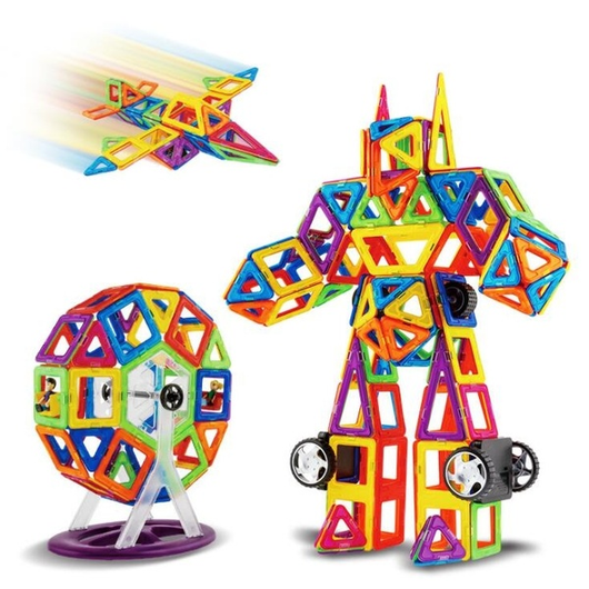 Magnetic Building Shape & Block Set children's imagination go wild giant bumper pack of 386! Ideal stocking filler Sets block builders build magnetically trucks shaping shapes set Puzzles puzzle preschool play patterns lego kids kid girls girl childrens Children child building boys boy blocks 3D 2D