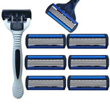 Men's 7 Piece 6 Blade Razor Set Get stocked up with this 6 Pack of Razor Blades skin care sink shower's shower shaving shaves Shavers shaver shave razors razor Men's mens Men man Male mach3 layered layer Home holiday head grooming groom gillette face care face electric dad Close care boss blades blade bathrooms bathroom 7pcs 7pc 7 6pcs 6