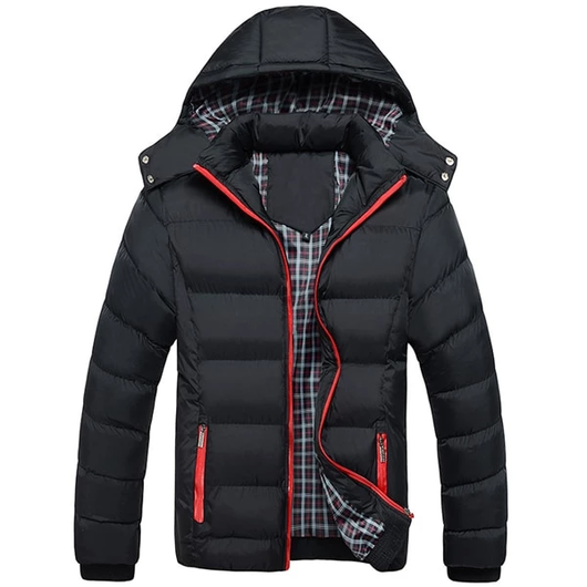 Black Men's Thermal Down Jacket Upgrade your winter coat padded synthetic down jacket Winter warmth warming Warmer Warm Thick Thermal Parka's Parka Men's mens Men man Male jacket's jacket guy fashionable Fashion down dad's dad coat's coat boys boy