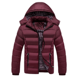 wine red Men's Thermal Down Jacket Upgrade your winter coat padded synthetic down jacket Winter warmth warming Warmer Warm Thick Thermal Parka's Parka Men's mens Men man Male jacket's jacket guy fashionable Fashion down dad's dad coat's coat boys boy