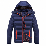 dark blue Men's Thermal Down Jacket Upgrade your winter coat padded synthetic down jacket Winter warmth warming Warmer Warm Thick Thermal Parka's Parka Men's mens Men man Male jacket's jacket guy fashionable Fashion down dad's dad coat's coat boys boy