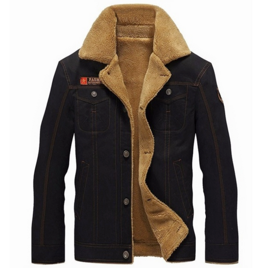 black Men's Winter Pilot Jacket Keep warm and smart Straight cut, for a slim smart casual fit great paired with a shirt or hoodie Classic pilot jacket design,winter warmth warming Warmer warm Thick Tactical size Plus Pilot Men's mens Men Male jackets Force fashionable fashion collar coat's coat Bomber