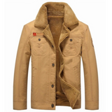 sand Men's Winter Pilot Jacket Keep warm and smart Straight cut, for a slim smart casual fit great paired with a shirt or hoodie Classic pilot jacket design,winter warmth warming Warmer warm Thick Tactical size Plus Pilot Men's mens Men Male jackets Force fashionable fashion collar coat's coat Bomber