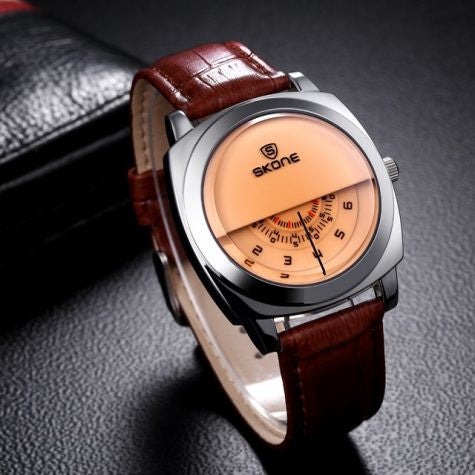Mens Military Leather Sports Watch