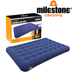 Milestone Camping Airbed Airbeds for homes or when you go camping Super safety valve helps rapid inflation and deflation deflated inflator's inflating inflate inflatables inflatable sleeping sleep flock single caravans caravan Caravan's camps camp beds bed's bed airbed air beds air bed air Airbed Flocked