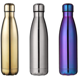 Milestone Stainless Steel 500ml Water Bottle Ideal or the gym, & designed to help retain the temperature of drinks, hot or cold water wall steel stainless steel stainless Milestone gymwear gyms gymgear gym gift Double-Walled double layered double bottles bottled bottle stop bottle 500ml
