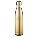 gold Milestone Stainless Steel 500ml Water Bottle Ideal or the gym, & designed to help retain the temperature of drinks, hot or cold water wall steel stainless steel stainless Milestone gymwear gyms gymgear gym gift Double-Walled double layered double bottles bottled bottle stop bottle 500ml