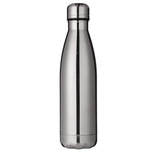 silver Milestone Stainless Steel 500ml Water Bottle Ideal or the gym, & designed to help retain the temperature of drinks, hot or cold water wall steel stainless steel stainless Milestone gymwear gyms gymgear gym gift Double-Walled double layered double bottles bottled bottle stop bottle 500ml