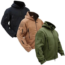 Military Style Tactical Thermal Fleece Jacket Stay warm this winter super practical arctic soft shell insulates your body heat, walking, hiking, fishing zips zip winter warmth war travel outdoor mountain Men's Men's Men man jumper Jacket's insulate insualted husband heat fleeces fleeced coats coat clothes body activities