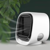 white Mini Air Cooler with Nightlight Compact, eco-friendly, personal air conditioner with Water usb fan Tank Purifiers PURIFIER Portable Miniature mini fan Humidifiers humidifier Home fans fan Desktop Dehumidifiers Dehumidifier cools Cooling coolers cool down Cool Box Conditioning conditioner's aircon air-con air conditioning air adjustable fan