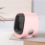 pink Mini Air Cooler with Nightlight Compact, eco-friendly, personal air conditioner with Water usb fan Tank Purifiers PURIFIER Portable Miniature mini fan Humidifiers humidifier Home fans fan Desktop Dehumidifiers Dehumidifier cools Cooling coolers cool down Cool Box Conditioning conditioner's aircon air-con air conditioning air adjustable fan