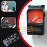 Plug-In Log Fire Heater
