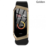 gold and black Multi-function Activity Bracelet essential apps monitor your fitness health data work waterproof water resistant watch tracking track steps Smartwatch smartphone running Rate multi-functional jogging iPhone IP68 IP67 heart rate monitor health gym goals fitness tracker fit cycling cycle bracelet blood pressure Activity Active