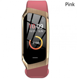gold and pink Multi-function Activity Bracelet essential apps monitor your fitness health data work waterproof water resistant watch tracking track steps Smartwatch smartphone running Rate multi-functional jogging iPhone IP68 IP67 heart rate monitor health gym goals fitness tracker fit cycling cycle bracelet blood pressure Activity Active