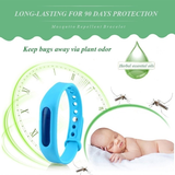 Natural Mosquito Repellent Wristband Keep your family safe natural mosquito repellent wristbands Central capsule herbal plant aromas lemon, eucalyptus, chamomile mint waterproof strap silicone repellent pool pest NEW natural mozzies mosquitoes Mosquito insect's insect holiday's holiday Herbal family free deet bug's bug bracelets bracelet bands band Anti