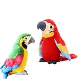Talking and Recording Parrot pretty polly novelty Records your voice with playback function songs, rhymes and jokes vibrant toys toy talk songs soft rhymes records Recordable record pretty plush plays Parrot's gift mcCaw kids girls girl gift fabric design Children's children child bright boys boy