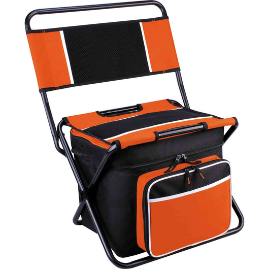Orange Cooler Bag & Folding Chair All-In-One