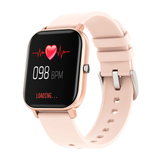 rose gold  P8 Smart Watch The latest generation capacitive touch screen Women's womens women watches touchscreen smartwatches Smartwatch smartphones smartphone smart phone sleep Pressure P8 Monitors Monitoring Men's mens Men Inch heart rate monitor GTS Full For fitness tracker COLMI blood pressure oxygen flow circulation 1.4