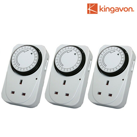 Pack of 3 Plug-in Timer Sockets