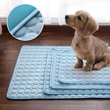 Pet Cooling Breathable Gel Mats Insulates your dog from the ground Keeps their temperature down in hot weather Made from specialised cooling fabric travelling traveling travel pet's pet travel pet owner pet Mat's mat gift Gel dog's dog bed dog cools cooling mat Cooling coolers Cooler cool down Cool cat's cat caravans caravan car's car seats Car