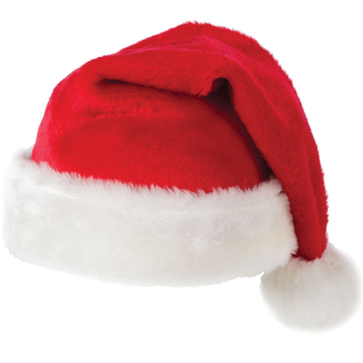 Plush Santa Christmas Hat Great little gift for Secret Santa One Size RED SANTA HAT Xmas Women's womens women Velvet secret santas Santa Claus Santa Red Plush Men's mens Men ladys Lady Ladies hats hat gift Father christmas Christmassy Christmas-Theme christmas tree christmas day christmas Christ