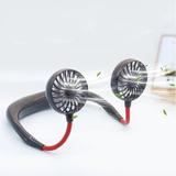 Hands-Free Neck Fan Keep cool in the hot weather with this portable neck band mini air fan woman with usb fan USB temperature Summer Blouse summer sticky Small rechargeable fan Rechargeable Portable neck mini fan Mini man kids hot Home garden parties garden fans fan Dual double cooler cool Colour breath blow band air adjustable fan
