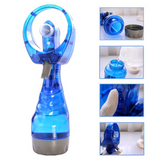 Water Spray Misting Fan in Blue Keep cool in the Summer Sun Dual function fan water mist Easy hold operate Great for outdoor activities water travelling travellers Traveller travel summer sprays spraying Sprayer Spray Gun spray powerful Power Portable misty Misting Mist Mini hot holidays holiday Handheld Fan's fan Cooling Cooler Cool beaches beach