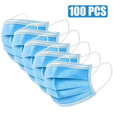 100pcs Protective Anti Virus Face Masks Buy in bulk and save! large packs of protective mouth masks flu, viruses, bacteria, allergens, smoke, dust, pollen, virus smoke protects Protectors protector protective protection Protected protect noses nose mouth mask's Mask healthy healthier health flu faces covers cover coronavirus corona Anti-Virus