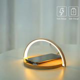 Qi Smartphone Charger Pad & Lamp Drop, charge and illuminate with this stylish minimal chic travel touch smartphones smart phone recharge phones phone mount phone holder pad's mobilephone mobile phone lamps iphones iPhone illumination Illuminated illuminate fast charge charges chargers charge brightness bed Apple