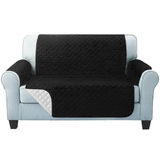 Two seater black Quilted Water-Resistant Sofa Protector Ideal for protecting your sofas and chairs against everyday dangers. made with a durable water-repellent finish Diamond-quilted with microfibre filling sofa settees settee Quilted protects Protectors protector protective protection protecting protect Set furniture coverup covers cover chairs chair