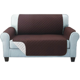 two seater brown Quilted Water-Resistant Sofa Protector Ideal for protecting your sofas and chairs against everyday dangers. made with a durable water-repellent finish Diamond-quilted with microfibre filling sofa settees settee Quilted protects Protectors protector protective protection protecting protect Set furniture coverup covers cover chairs chair