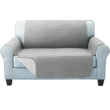 two seater grey Quilted Water-Resistant Sofa Protector Ideal for protecting your sofas and chairs against everyday dangers. made with a durable water-repellent finish Diamond-quilted with microfibre filling sofa settees settee Quilted protects Protectors protector protective protection protecting protect Set furniture coverup covers cover chairs chair