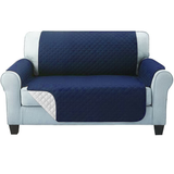 two seater navy Quilted Water-Resistant Sofa Protector Ideal for protecting your sofas and chairs against everyday dangers. made with a durable water-repellent finish Diamond-quilted with microfibre filling sofa settees settee Quilted protects Protectors protector protective protection protecting protect Set furniture coverup covers cover chairs chair