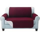 two seater red Quilted Water-Resistant Sofa Protector Ideal for protecting your sofas and chairs against everyday dangers. made with a durable water-repellent finish Diamond-quilted with microfibre filling sofa settees settee Quilted protects Protectors protector protective protection protecting protect Set furniture coverup covers cover chairs chair
