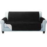 three seater black Quilted Water-Resistant Sofa Protector Ideal for protecting your sofas and chairs against everyday dangers. made with a durable water-repellent finish Diamond-quilted with microfibre filling sofa settees settee Quilted protects Protectors protector protective protection protecting protect Set furniture coverup covers cover chairs chair