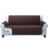 three seater brown Quilted Water-Resistant Sofa Protector Ideal for protecting your sofas and chairs against everyday dangers. made with a durable water-repellent finish Diamond-quilted with microfibre filling sofa settees settee Quilted protects Protectors protector protective protection protecting protect Set furniture coverup covers cover chairs chair