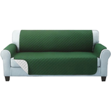 three seater green Quilted Water-Resistant Sofa Protector Ideal for protecting your sofas and chairs against everyday dangers. made with a durable water-repellent finish Diamond-quilted with microfibre filling sofa settees settee Quilted protects Protectors protector protective protection protecting protect Set furniture coverup covers cover chairs chair