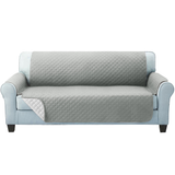 three seater grey Quilted Water-Resistant Sofa Protector Ideal for protecting your sofas and chairs against everyday dangers. made with a durable water-repellent finish Diamond-quilted with microfibre filling sofa settees settee Quilted protects Protectors protector protective protection protecting protect Set furniture coverup covers cover chairs chair