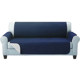 three seater navy Quilted Water-Resistant Sofa Protector Ideal for protecting your sofas and chairs against everyday dangers. made with a durable water-repellent finish Diamond-quilted with microfibre filling sofa settees settee Quilted protects Protectors protector protective protection protecting protect Set furniture coverup covers cover chairs chair