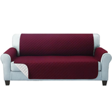three seater red Quilted Water-Resistant Sofa Protector Ideal for protecting your sofas and chairs against everyday dangers. made with a durable water-repellent finish Diamond-quilted with microfibre filling sofa settees settee Quilted protects Protectors protector protective protection protecting protect Set furniture coverup covers cover chairs chair