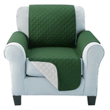 Green Quilted Water-Resistant Sofa Protector Ideal for protecting your sofas and chairs against everyday dangers. made with a durable water-repellent finish Diamond-quilted with microfibre filling sofa settees settee Quilted protects Protectors protector protective protection protecting protect Set furniture coverup covers cover chairs chair