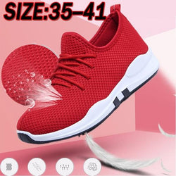 Red Hot Multi-Sport Shoes Trainers don't need to be boring, work out in style Light weight sole - perfect for running, aerobics, gym, walking everyday casual wear Women's womens women woman trainers trainer summer sports sport Sneakers sneaker shoes shoe red mothers mother mesh little Lady Ladies hot girls girl clothing clothes breathable