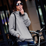 Roll-Neck Button Hoodie