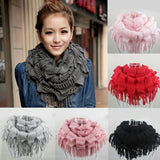 Warm Cowl Neck Tassel Scarf High quality and fashionable Unique special Knitted wool womens women womans woman wom warmth warming warm Tassel tassal Scarves Scarfs scarf neckline neck mum ladys Lady Ladies girls girl gift Cowl clothing clothes