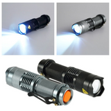 Portable LED Zoom Flashlight