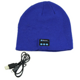 blue Bluetooth Music Beanie hat with built-in speakers listen to music Take phone calls mic removable Charge via a USB cable women Wireless Unisex travel Smart musician music mobile Men Knitted headsets Headset headphones Headphone hats hat girls earphones earphone Earbuds earbud caps Cap boys Bluetooth beanies Beanie